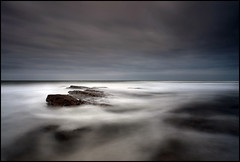 Flow (angus clyne) Tags: sea white storm black beach rock dark flow island scotland rocks long waves mood moody fife wide wave stormy calm east angry beaches surge swell seconds 115 saintandrews wavey flikcr noth leefilters