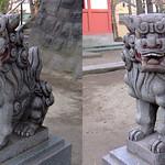 DSCF0923 浅草弁天堂の狛犬 komainu (parallel 3D) thumbnail