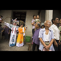 myth and reality - China ( Tatiana Cardeal) Tags: guangzhou china travel costumes people digital opera asia village traditional chinese structure guangdong reality  2009 myth canton  canto chatang  mythreality