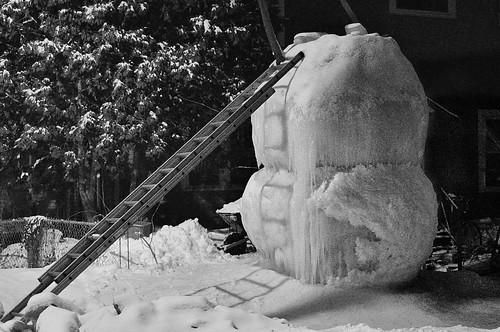Headless Snowman as Big as a House