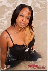 Divine Black Kats (Dre007) Tags: black sexy beach water beautiful model skin miami divine breeze