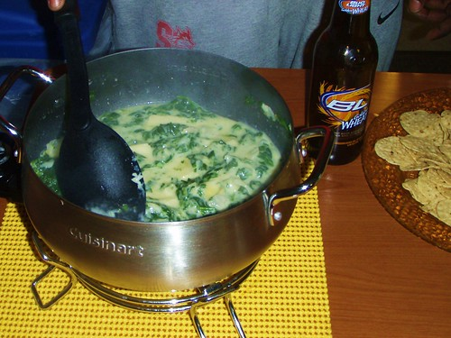 01 - fondue party - spinach artichoke and bacon dip