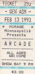 02/13/93 Arcade @ Minneapolis, MN (Ticket)