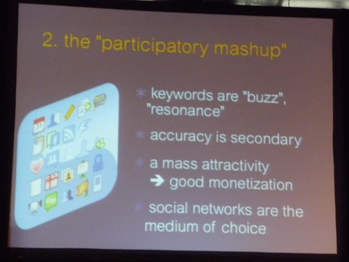 Participatory mashups: Are becoming the medium of choice for internet users and advertisers