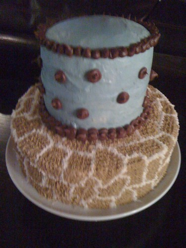 Giraffe Cake for Baby Shower