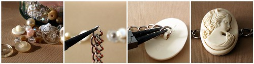 Bead & Button Bracelet Tutorial - Stage 1-4