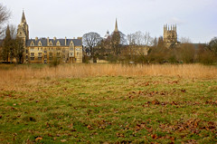 Oxford des del Tmesis / Oxford from Christ Church Meadow (SBA73) Tags: uk greatbritain inglaterra winter christchurch england panorama college grass thames skyline river unitedkingdom meadow oxford prado isis oxfordshire reinounido hierba prat hivern herba granbretaa anglaterra regneunit granbretanya mygearandme