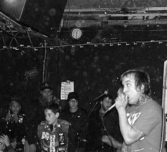 Monster Squad 3/13/10 (IngyJO) Tags: blackandwhite berkeley hardcore vocalist clubs punks monstersquad venues punkkid 924 gilman mohawks 924gilmanbenefitshow