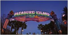 Disney's Pleasure Island Gateway (hz536n/George Thomas) Tags: march florida disney fisheye disneyworld gateway canon5d 2010 pleasureisland smrgsbord cs3 canonef15mmf28fisheye topazadjust ef15mmf28fisheyeusm