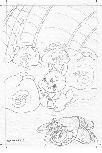 11.18.10 - _IF-X_ April Fools issue cover line art