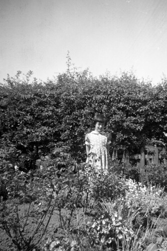 Lorraine in Family Garden, 1950s