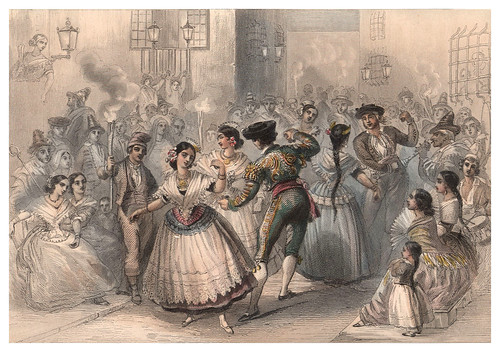 001-Alicante-Fiesta parroquial-Voyage pittoresque en Espagne et en Portugal 1852- Emile Bégin