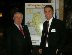 Sen. Moore meets with 495/MetroWest Partnership Director