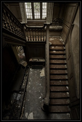 Upstairs Downstairs . (insomniac2008 .) Tags: abandoned stairs decay forgotten lookingdown unloved nevertell pottersmanor