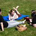 Who says class has to be inside? This class takes advantage of the warm spring day.