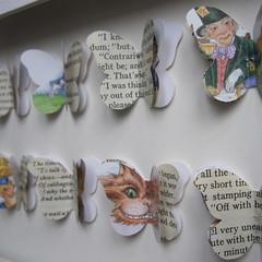 Alice in Wonderland Illustrated (TerrorDome!) Tags: colour art collage butterfly children framed ooak literature gift custom lewiscarroll originalcollage homewares alicewonderland