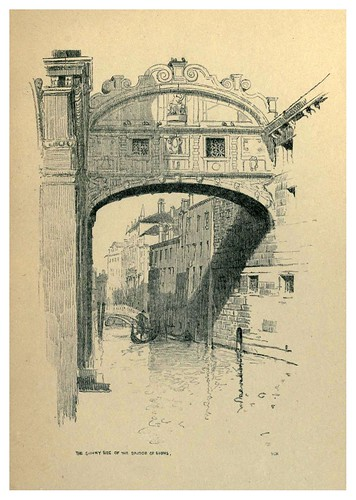 018-El lado soleado del puente de los suspiros-Venice  a sketch-book 1914- Richards Fred