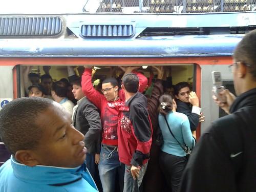 Trem na estação de Utinga/SP