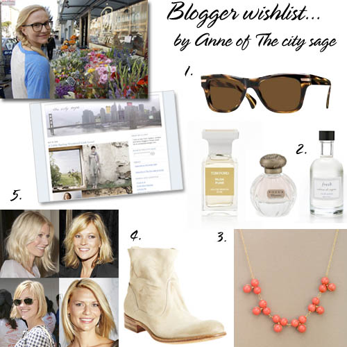 Blogger wishlist Anne