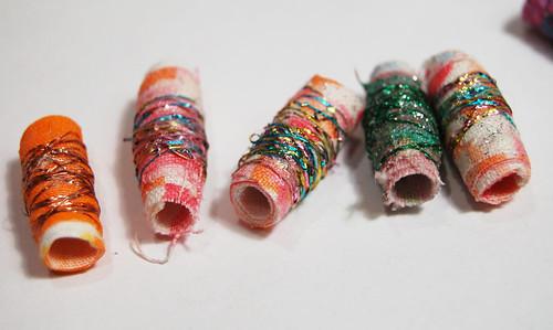 My fabric beads