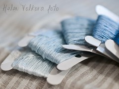 s-6 (helen.volkova) Tags: blue color macro thread aqua hobby stitching crosstitching