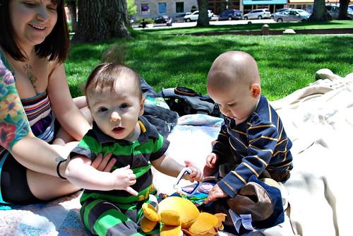 a springtime picnic
