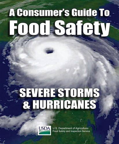 For more information on how to be food safe before, during, and after severe weather, check out A Consumer's Guide to Food Safety: Severe Storms and Hurricanes.