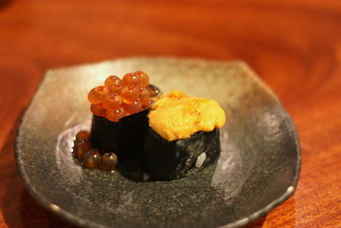 Ikura (Salmon Roe) and Uni (Sea Urchin Roe)