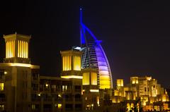 Burj Al Arab (Jim Boud) Tags: longexposure travel tower architecture night sailboat skyscraper hotel asia dubai nightshot burjalarab luxury unitedarabemirates artisticphotography minaasalam 7starhotel jimboud sailboathotel canoneos60d jamesboud canonefs1585mmf3556isusm canon1585mm