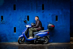 IMG_4510 (Choo_Choo_train) Tags: portrait man streets color rain canon eos motorbike 135mm 1352l 5dmark2