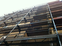 Scaffolding on my apartment building.