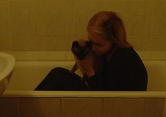 true friends (rkadras) Tags: self portrait cat friendship deep siamese musli bathtub friends