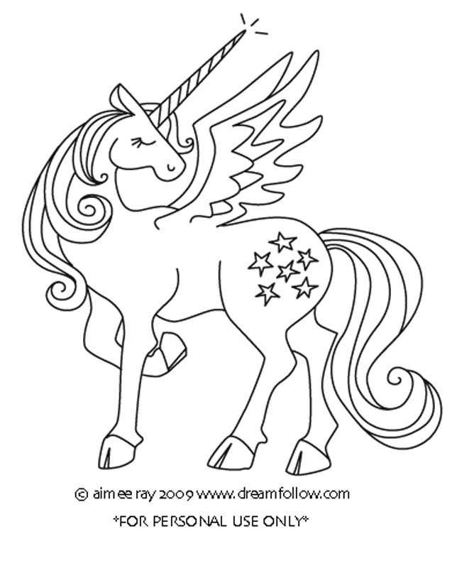Winged Unicorn Colouring Pages Winged Unicorn Coloring Pages
