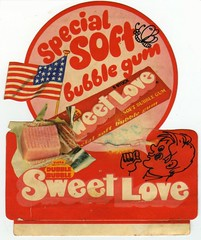 "1970s Fleer Dubble Bubble ""Sweet Love"" promo sticker (daniel85r) Tags: dubblebubble fleer vintagegum"