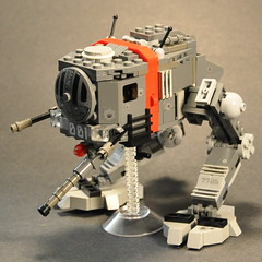 "A-7705 ""Bulldog"" Walker Mecha (The Ranger of Awesomeness) Tags: lego walker mecha determination brickarms powerbuild uclip transparentstand"