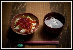 An autumn taste in Japan (Jiro316) Tags: autumn home nikon bowl homemade nagoya  aichi d3  japanesestyle salmoncaviar  sb800  japanesemeal