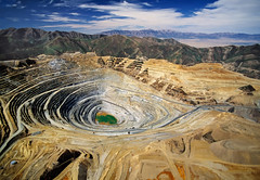 "Kennecott Bingham Canyon Mine (IronRodArt - Royce Bair (""Star Shooter"")) Tags: mountains utah mine open view hole earth digging deep canyon aerial mining minerals copper mineral manmade geology dig excavation deposit kennecott openpit bingham porphyry oquirrh excavate"