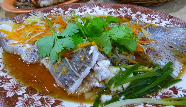 Steamed Soon Foong Fish