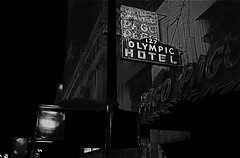 "Film noir homage, ""The Unsuspected,"" 1947, Olympic Hotel, Long Beach, California (David Lee Guss) Tags: jack claude raymond lambert chandler rains filmnoir robertmitchum longbeachcalifornia johngielgud fredallen davidleeguss filmnoirhomage cinematographerwoodybredell"