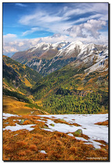 Fall in the Austrian Alps (Fraggle Red) Tags: snow mountains alps salzburg clouds austria sterreich valley jpeg ontheroad hdr canonefs1022mmf3545usm naturesfinest 3exp nationalparkhohetauern superaplus aplusphoto diamondclassphotographer flickrdiamond dphdr grosglocknerhochalpenstrase