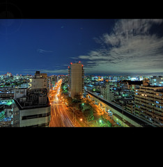 One last shot before I go to bed: Night Cityscape from Minami-oi, Tokyo, Japan (Alfie | Japanorama) Tags: road longexposure nightphotography blue sky japan skyline night clouds buildings stars japanese nikon cityscape tripod traintracks railway hdr afterdark traffictrails d300 route15 frommyroof shinagawaku japanhdr tokyohdr minamioi tokina1116mmf28