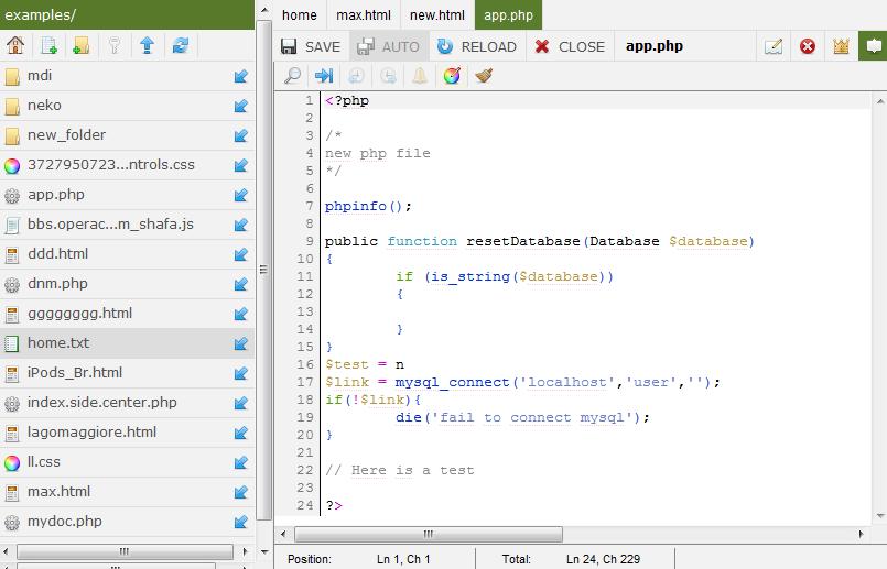 eCoder source code editing