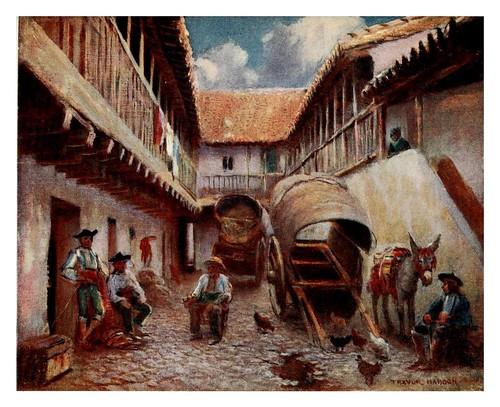 025-Córdoba-Patio de una posada-Southern Spain 1908- Trevor Haddon