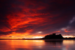Bamburgh (capturedcanvas.co.uk) Tags: longexposure travel blue sunset sea orange seascape castle beach silhouette clouds sunrise canon buildings photography rebel coast photo sand holidays paradise britain scenic picture wallart canvas coastal printing colourful northeast bamburgh sillhouette xsi 450d canon450d photosoncanvas coastbritain empireart