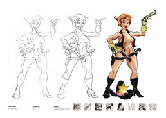 """CowBOA"" (eduardowestin) Tags: nude gun mulher cartoon revolver lapis arma nua cartum faroeste xerifa"