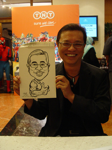Caricature live sketching TNT Express Worldwide D&D 2009 - 8