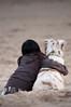 Friends (rafh2o) Tags: dog girl brownandwhitedog aussieshepherd