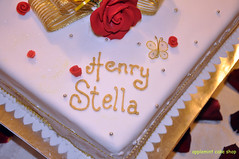 White Gold Wedding Cake (applemint_jackie) Tags: wedding roses food white love cakes kitchen coffee cake fruit silver butterfly gold yummy strawberry pretty heart sweet embroidery anniversary royal hobby valentine sugar celebration butter decorating passion icing romantic ribbon simple edible sheen frosting fondant buttercream royalicing