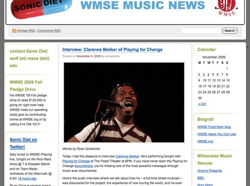WMSEs Blog is one of Clarence Bekkers best web hits!