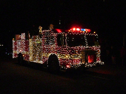 Parade of Lights ~ fire truck - Flickriver: Army.arch's Photos Tagged With Christmaslights